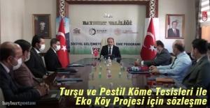 Turşu ve Pestil Köme Üretim Tesisleri ile Eko-Köy projesi için sözleşme imzalandı