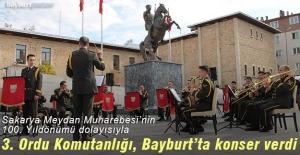 3. Ordu Komutanlığı, Bayburt'ta konser verdi