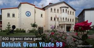 Bayburt Üniversitesi Önlisans Bölümleri %99 Doluluk Oranında