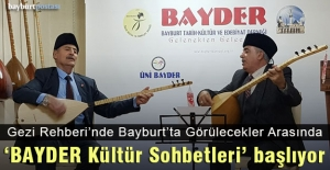 'BAYDER Kültür Sohbetleri' başlıyor