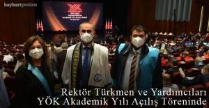 Rektör Türkmen ve Yardımcıları, YÖK programına katıldı