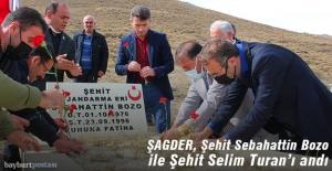 ŞAGDER, Şehit Sebahattin Bozo ve Şehit Selim Turan'ı andı