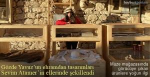 Tasarımcı Gözde Yavuz'un ehram ürünleri, Sevim Atamer'in ellerinde şekillendi