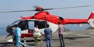 Ambulans helikopter 2,5 yaşındaki bebeğin imdadına yetişti