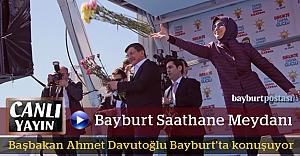 Başbakan Davutoğlu, Bayburt'ta konuşuyor (CANLI)
