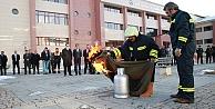 Bayburt Üniversitesi'nde yangın tatbikatı