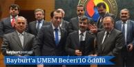 Bayburt'a UMEM Beceri'10 ödülü