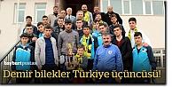 Bayburtlu bilekçiler Türkiye üçüncüsü