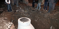 Bayburt'ta doğalgaz borusu delindi