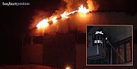 Bayburt'ta mobilya atölyesi yandı!