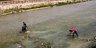 Çoruh Nehri'nde temizlik