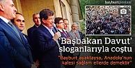 Davutoğlu'na 'Başbakan' gibi karşılama