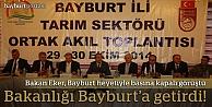 """Eker:""""Destekler Bayburt'ta karşılığını buldu"""""""