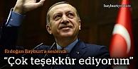 """Erdoğan: """"Bayburt'un bu teveccühü benim için önemli"""""""