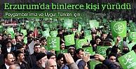 Erzurum, 'Peygambere Saygı ve Zulme Lanet' için yürüdü