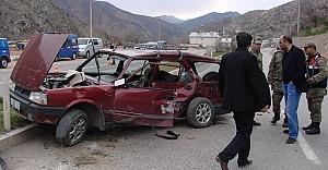 Gümüşhane'de feci kaza: 1 ölü, 3 yaralı