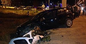 Hastane kavağında kaza
