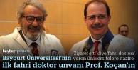 İlk fahri doktora unvanı Prof. Koçan'a