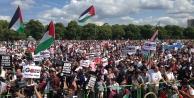 İngiltere'de on binler İsrail'i protesto etti