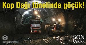 Kop Tüneli inşaatında göçük oluştu