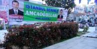 Muhtar adayı Rize'de seçim afişi Ümraniye'de