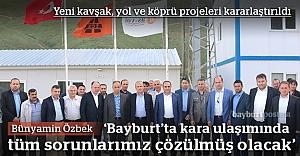 Özbek, karayolları projeleri hakkında konuştu