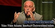 """Prof. Tozlu'ya """"Yılın Fikir Adamı"""" Ödülü"""