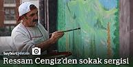 Ressam Cengiz, şehir şehir Türkiye'yi renklendiriyor