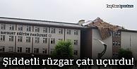 Rüzgar üniversitenin çatısını uçurdu