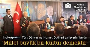 Türk Dünyasına Hizmet Ödülleri sahiplerini buldu