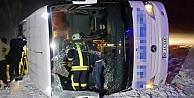 Bayburt otobüsü devrildi: 25 yaralı