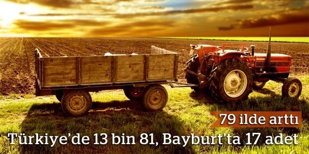 Traktör sayısı 79 ilde arttı
