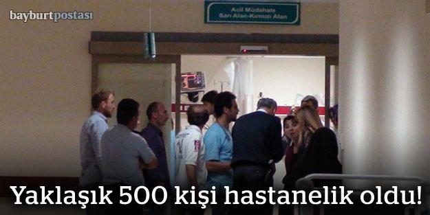 Yaklaşık 500 kişi hastanelik oldu!