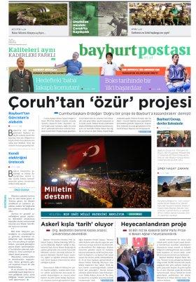 Bayburt Postası - Eylül 2016 Manşeti