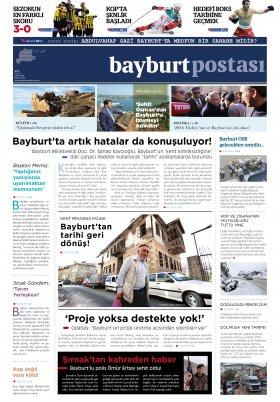 Bayburt Postası - Ocak 2016 Manşeti