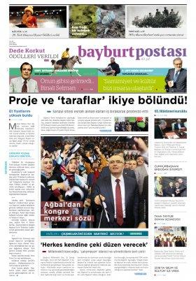 Bayburt Postası - Mayıs 2016 Manşeti
