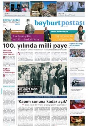 Bayburt Postası - Aralık 2016 Manşeti
