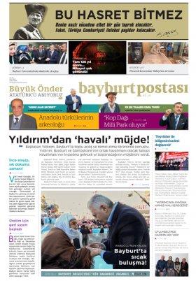 Bayburt Postası - Kasım 2016 Manşeti