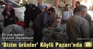 Organik ürünler 'köylü pazarı'nda satışa sunuldu