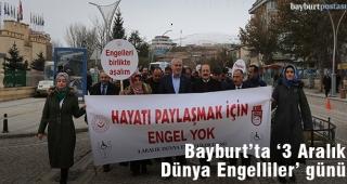 Bayburt'ta 'Dünya Engelliler Günü' etkinliği