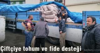 Çiftçiye 136 Ton Tohum, 43 Bin Adet Fide Desteği