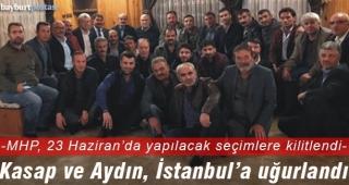 Kasap ve Aydın İstanbul'da Cumhur İttifakı'na destek isteyecek