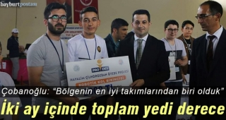 Bayburt Anadolu İmam Hatip Lisesi'nden 2 ayda 7 derece