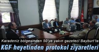KGF heyetinden Bayburt protokolüne ziyaretler