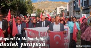 Bayburt'ta Barış Pınarı Harekatı'na destek yürüyüşü