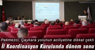 İl Koordinasyon Kurulunda Bayburt projeleri değerlendirildi