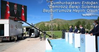 """Erdoğan: """"Demirözü Barajı Sulaması Hayırlı Uğurlu Olsun"""""""