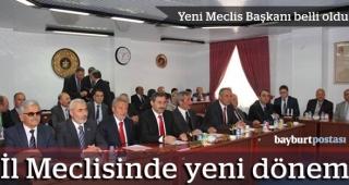 İl Genel Meclisi'nde yeni dönem